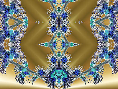 Gold And Blue Series Number Two Art Print by Mark Lopez