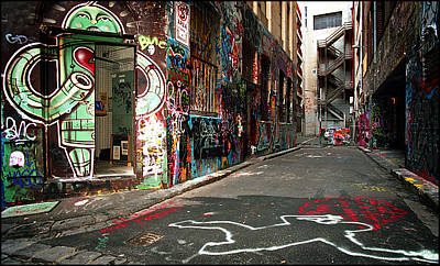 Photograph - Graffiti Lane by Tim Nichols