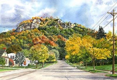 Painting - Grandad Bluff by Phyllis Martino