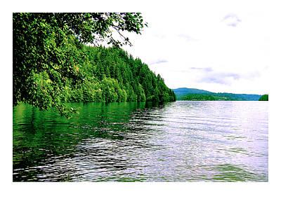 Green Lake Art Print by J D Banks