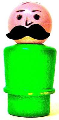 Green Man Mustache Art Print by Ricky Sencion