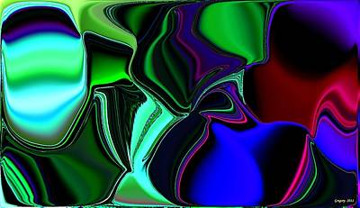Green Nite Distortions 4 Art Print