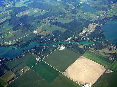 Photograph - H-013 Hay River Dunn County Wisconsin by Bill Lang
