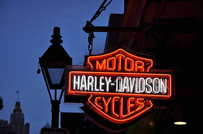 Harley Davidson New Orleans Art Print by Bill Cannon