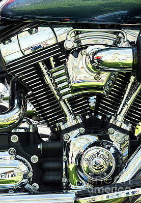 Photograph - Harley Power by Tim Gainey