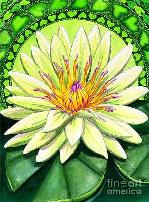 Lilies Royalty-Free and Rights-Managed Images - Heart Chakra by Catherine G McElroy