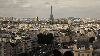 The Eiffel Tower Photograph - Heart Of City, Paris by Photo by rachel kara
