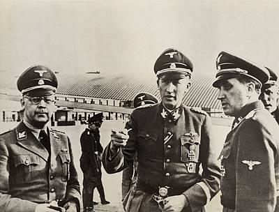 Heindrich Himmler Leftand Heydrich Art Print by Everett