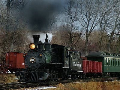 Colorado Railroad Museum Photograph - Here She Comes by Ken Smith