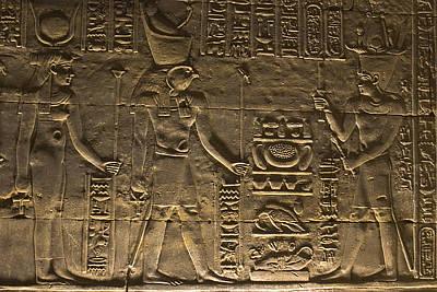 Hieroglyph At Edfu Art Print by Darcy Michaelchuk