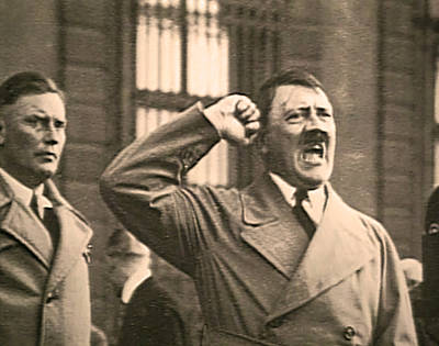 Hitler The Orator Art Print