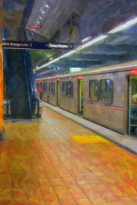 Print featuring the photograph Hollywood Subway Station by David Zanzinger