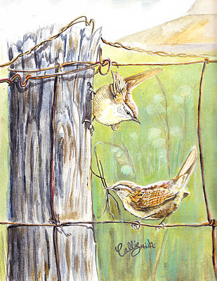 Painting - House Wrens by Callie Smith