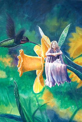 Hummingbird Painting - Hummingbird by Ken Meyer jr