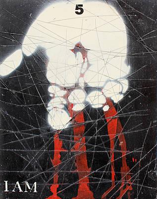 Spray Paint Mixed Media - I Am by Iain Barnes