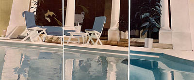 Ibiza Pool Art Print by Geoff Greene