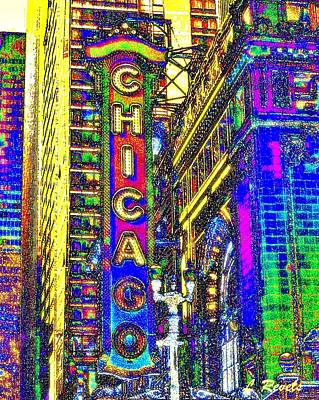 Iconic Chicago Art Print by Leslie Revels Andrews