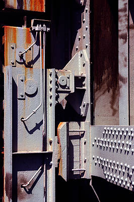 Rivets Photograph - Industrial Background by Carlos Caetano