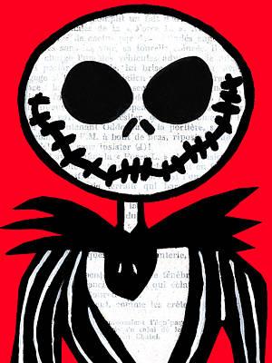 Jack On Red Art Print by Jera Sky