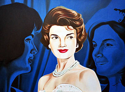 Jackie Kennedy Onassis Painting - Jacqueline Kennedy by Hector Monroy
