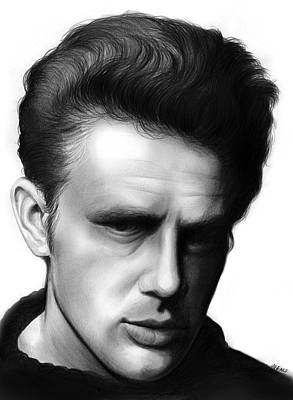 Actors Royalty-Free and Rights-Managed Images - James Dean by Greg Joens