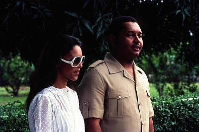Photograph - Jean-claude Duvalier And Michelle Bennett by Johnny Sandaire