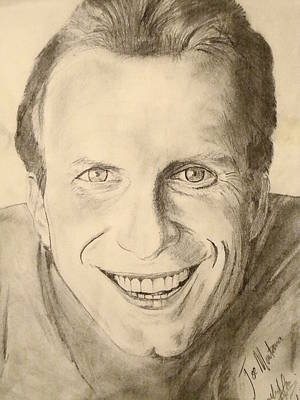 Joe Montana Art Print by Art by AK
