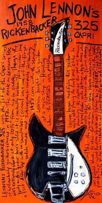Guitar God Painting - John Lennon's Rickenbacker by Karl Haglund