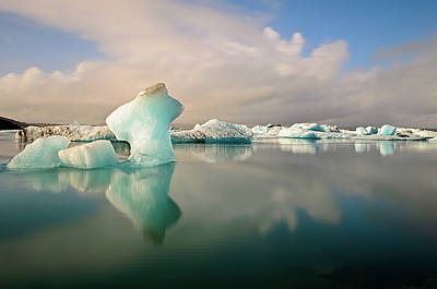 Iceberg Photograph - Jokulsarlon Glacier Lagoon Icebergs by Stealing Beauty Photography