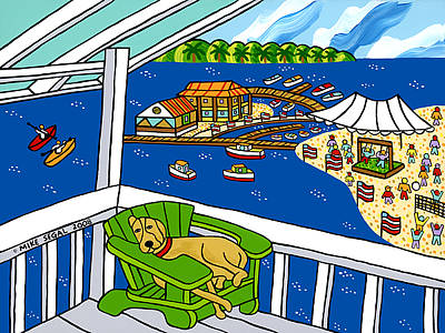 Painting - July 4th Snoozer - Cedar Key by Mike Segal
