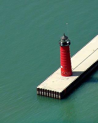 Photograph - K-003 Kenosha Wisconsin Lighthouse by Bill Lang