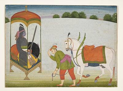 Incarnation Painting - Kalki Avatar The Future Incarnation Of  Vishnu  Page From A Dispersed Manuscript by Ca 176070