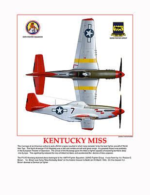Two Tailed Digital Art - Kentucky Miss by Jerry Taliaferro