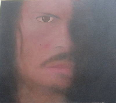 Art Print featuring the painting Kirk Hammett by Patricia Cleasby