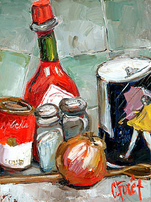 Kitchen Counter Art Print by Carole Foret