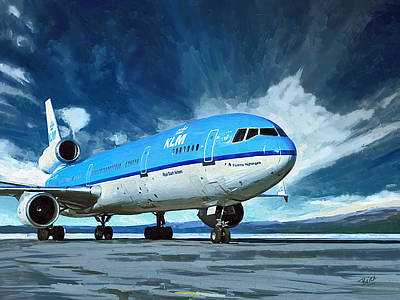 Painting - Klm Md11 by Nop Briex