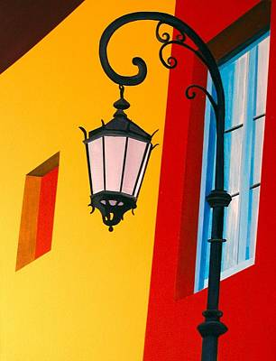 Painting - La Boca Street Lamp One by JoeRay Kelley