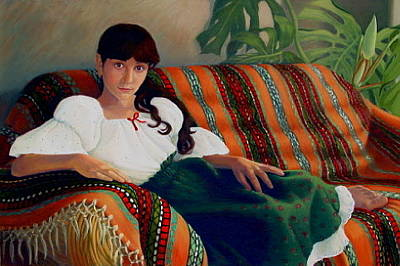 Realistic Painting - La Campesina by Elena Roche