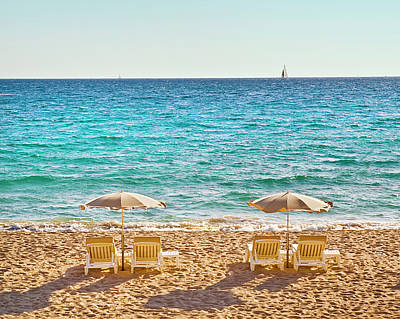 La Croisette Beach, Cannes, Cote D'azur, France Art Print by John Harper