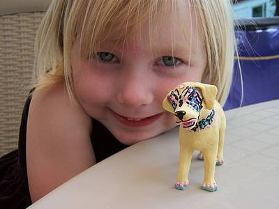 Painting - Lacey's Face Painted Dog by Deahn      Benware