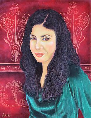 Lauren In Green Art Print