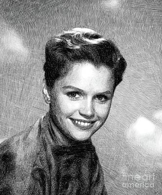 Musicians Drawings - Lee Remick, Vintage Actress by JS by Esoterica Art Agency