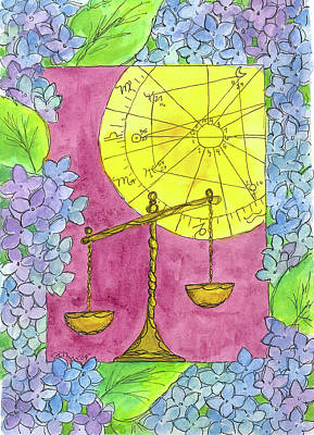 Print featuring the painting Libra by Cathie Richardson