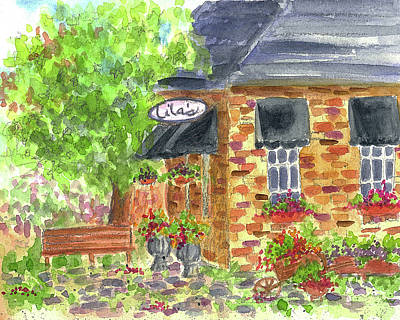 Painting - Lila's Cafe by Cathie Richardson