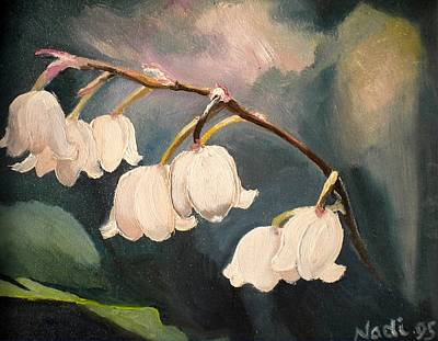 Lily Whites Art Print by Renate Nadi Wesley