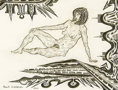 Live Nude 4 Female Art Print
