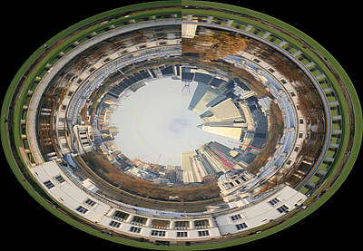 Royal Naval College Photograph - London Docklands Spiral by Ruth Hallam