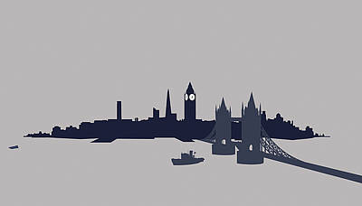 Tower Bridge London Digital Art - London, Great Britain by Ralf Hiemisch