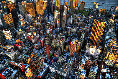Manhattan Photograph - Looking Down On Midtown Manhattan by Randy Aveille