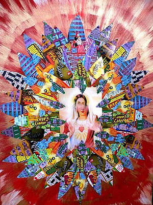 Lottery Mixed Media - Lotto Jesus by Terkildsen